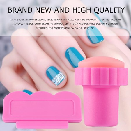 Unique Design New Nail Art Stamping Stamp Tools Scraping Knife Set