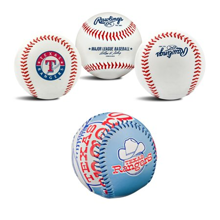 Texas Rangers MLB Retro and Team Logo Authentic Baseballs Bundle 2 Pack