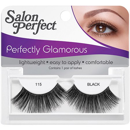 Salon perfect perfectly glamorous eyelashes 115 black 1 for Hair salon perfect first essential