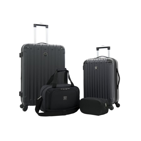 Midtown 4pc Expandable Hardside Luggage Value Set, Black
