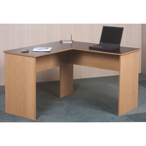 Orion L-Desk, Black and Oak