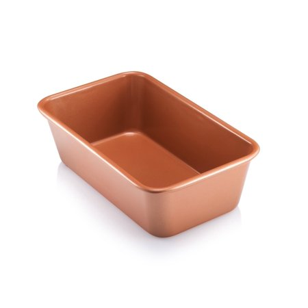 """Gotham Steel Bakeware Copper Loaf Baking Pan Non Stick - 9.7"""" x 5.75"""", As Seen on TV!"""