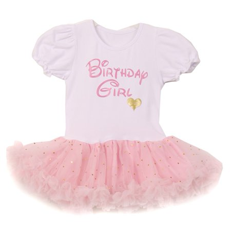 Girls White Pink Gold Heart Sequin Adorned Fluffy Tutu Birthday (White Gold Girl)
