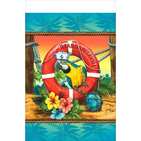 Luau Table Decor (Hawaiian Luau 'Margaritaville' Plastic Table Cover)