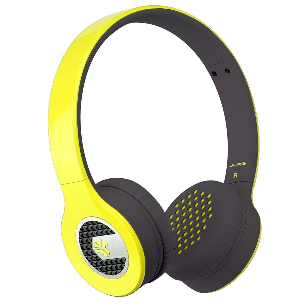 JLab Supra On-Ear Headphones W/Detachable 3.5mm Flat Cable w/Mic/Control Yellow