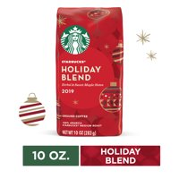 Starbucks Holiday Blend Medium Roast Ground Coffee, 10 Oz. Bag | Herbal & Sweet Maple Notes