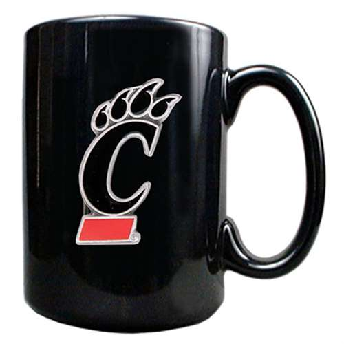 Cincinnati Bearcats 15oz Black Ceramic Mug