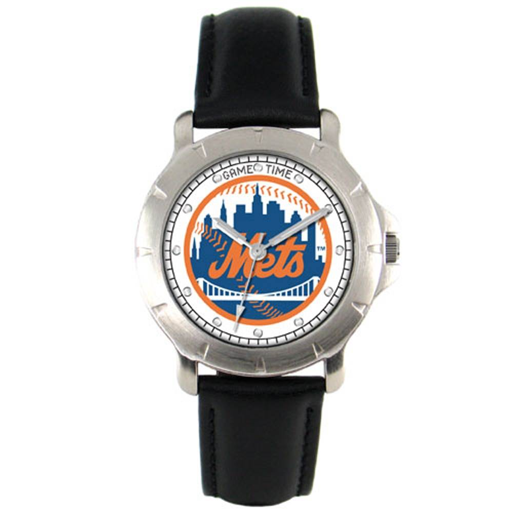 New York Mets Leather Band Players Watch