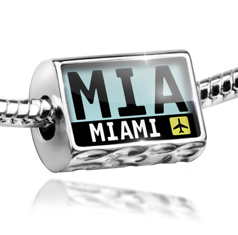 Bead Airport code MIA / Miami country: United States Charm Fits All European Bracelets