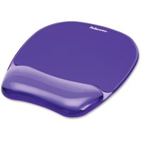 "Fellowes Gel Crystals Mouse Pad with Wrist Rest, 7.87"" x 9.18"", Purple -FEL91441"