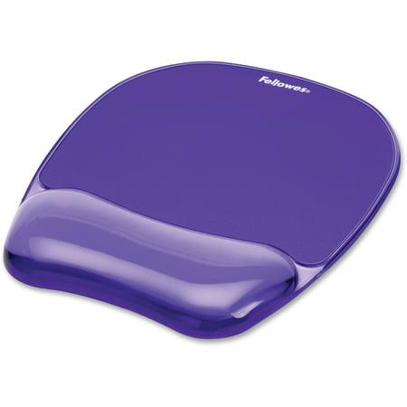 Fellowes, FEL91441, Gel Crystals® Mousepad/Wrist Rest - Purple, 1,