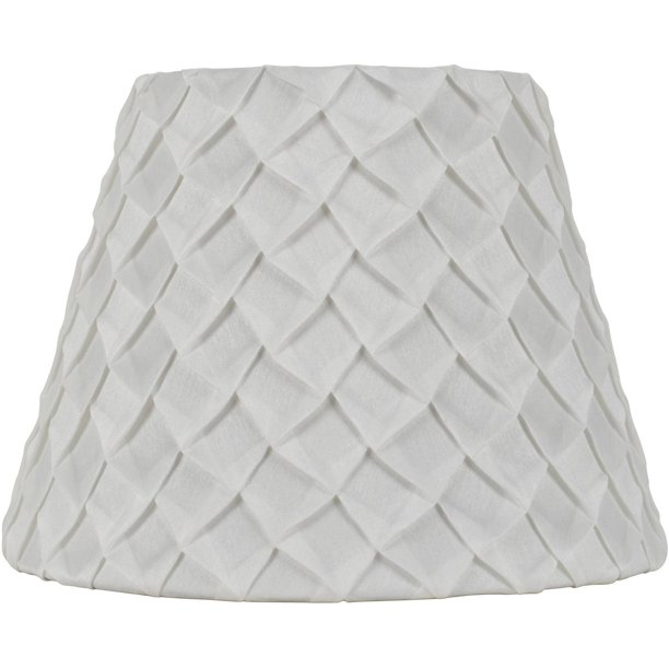 Better Homes Gardens White Pleated Empire Table Lamp Shade Walmart Com Walmart Com