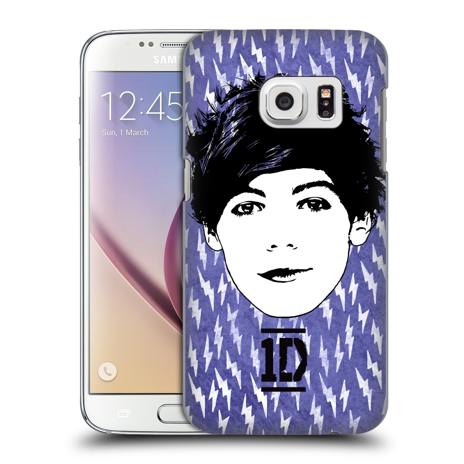 OFFICIAL ONE DIRECTION GRAPHIC FACE LOUIS HARD BACK CASE FOR SAMSUNG PHONES 1