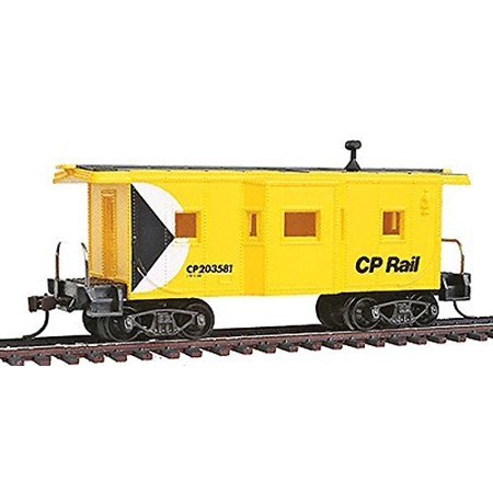 Rail Caboose - 98248 Ho Scale Bay Window Caboose with Knuckle Couplers CP Rail 203581, Ho Scale By Model Power
