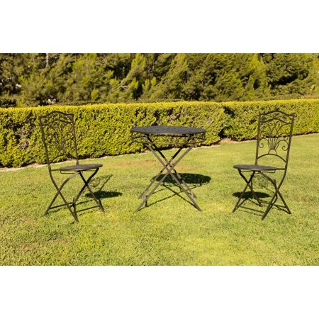 Fine Alpine Metal 3 Piece Bird And Leaf Bistro Set 1 Table And 2 Andrewgaddart Wooden Chair Designs For Living Room Andrewgaddartcom