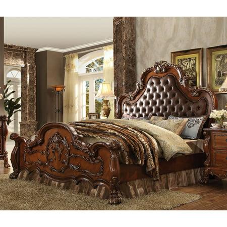 Dresden Cherry Oak Queen Sleigh Bed Solid Oak Queen Sleigh