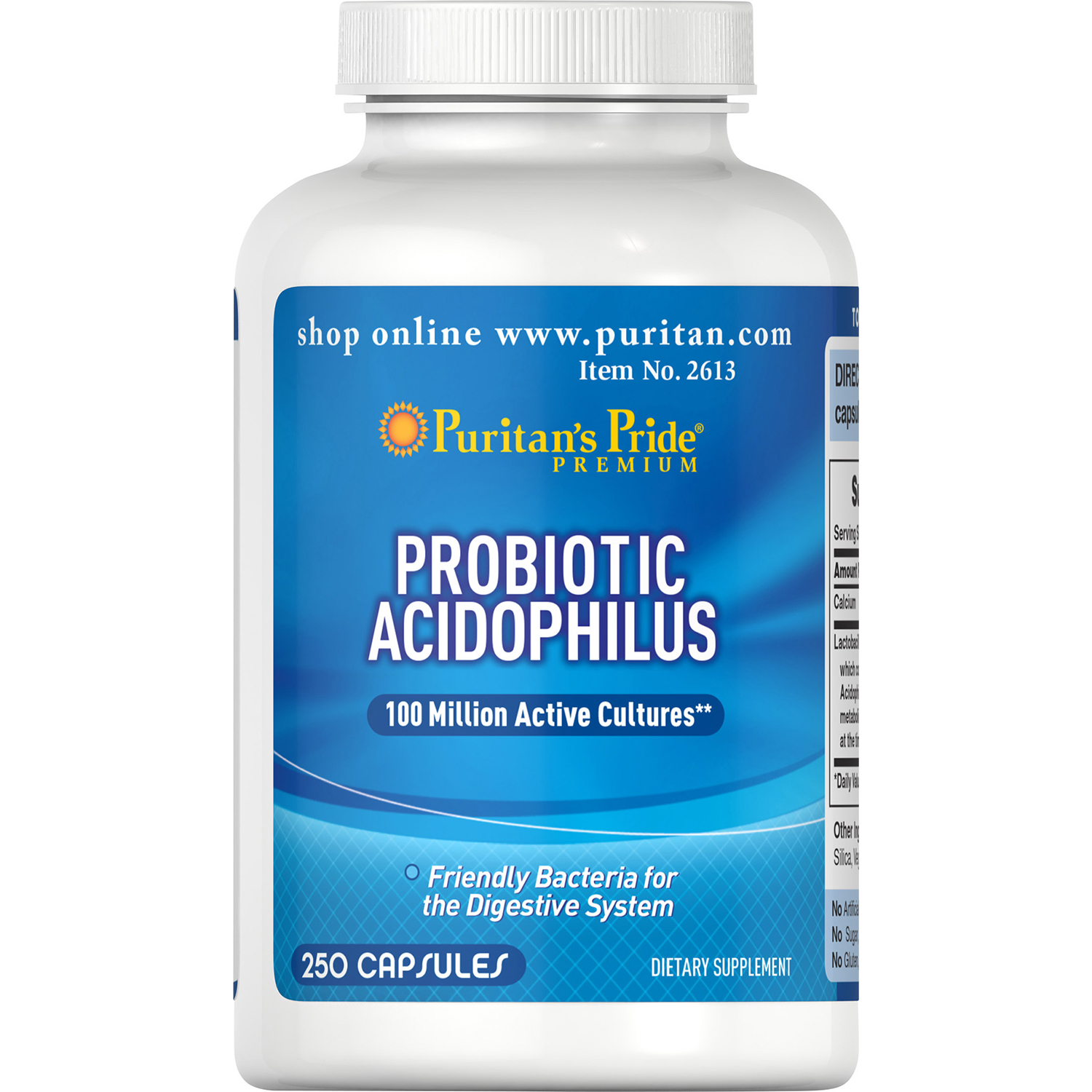 Puritan's Pride Nature's Promise Probiotic Supplement, Acidophilus, 250 Count