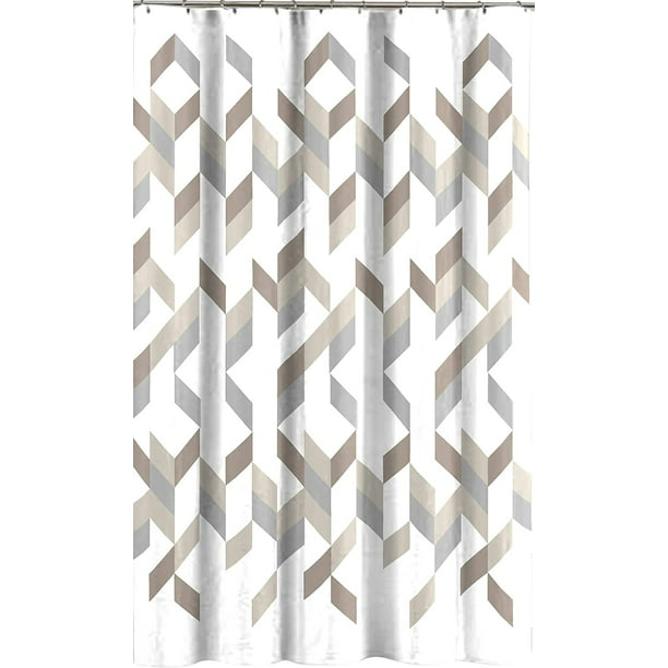 Modern Gray Taupe Beige Shower Curtain, Shower Curtains Gray And Beige