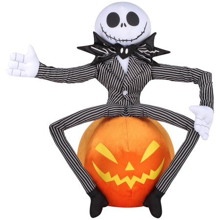 Jack Skellington on Pumpkin Greeter Halloween Decoration