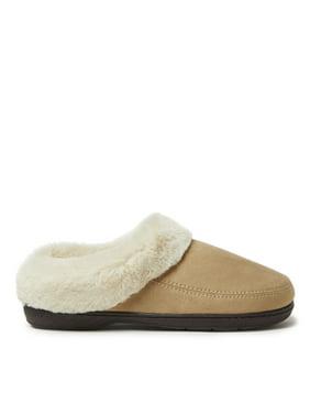 DF by Dearfoams Women's Microsuede Moc Toe Clog slippers