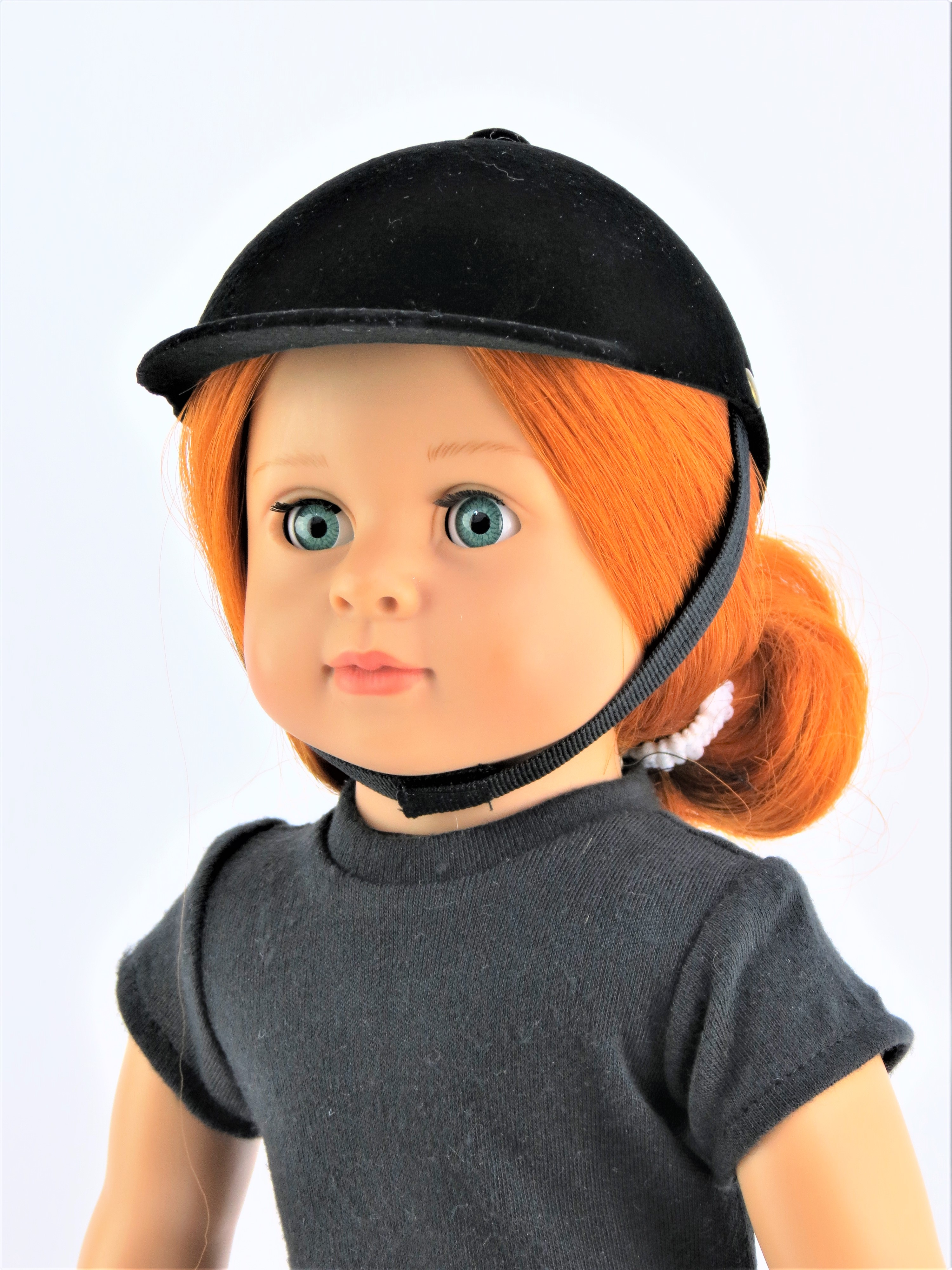 """Black English Riding Hat 