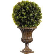 Tori Home Brazil Orange Leaf Ball in Resin Urn