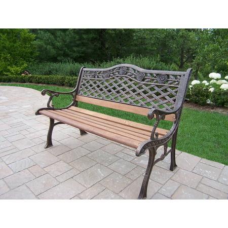 Oakland Living Corporation  Dakota Sun Cast Aluminum and Wrought Iron Bench ()