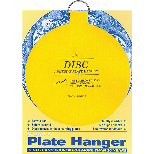 "Flatiron Disc Invisible Plate Hanger 5.5"", For Plates Up To 6.5 Lbs In Weight"