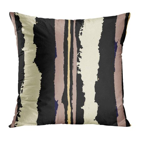 Artistic Linen (ECCOT Watercolor Abstract Stripes Lines Dry Brush Strokes Scribbled Rapport for Linen Rustic Artistic Bright Pillow Case Pillow Cover 20x20 inch)