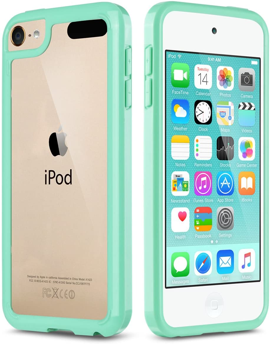 Ipod Touch 6th Generation Case Ipod 5 Case Ulak Clear Hybrid Flexible Soft Tpu Case Shock Absorbing Hard Plastic Cover For Ipod Touch 6 Ipod Touch 5 Walmart Com Walmart Com