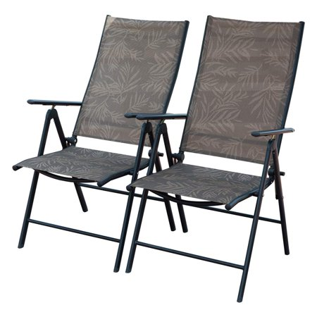 Remarkable Patiopost Set Of 2 Folding Adjustable Sling Back Chairs With 7 Stalls Indoor Outdoor Reclining Lounge Chairs For Lawn Garden Patio Beach Jacquard Gmtry Best Dining Table And Chair Ideas Images Gmtryco