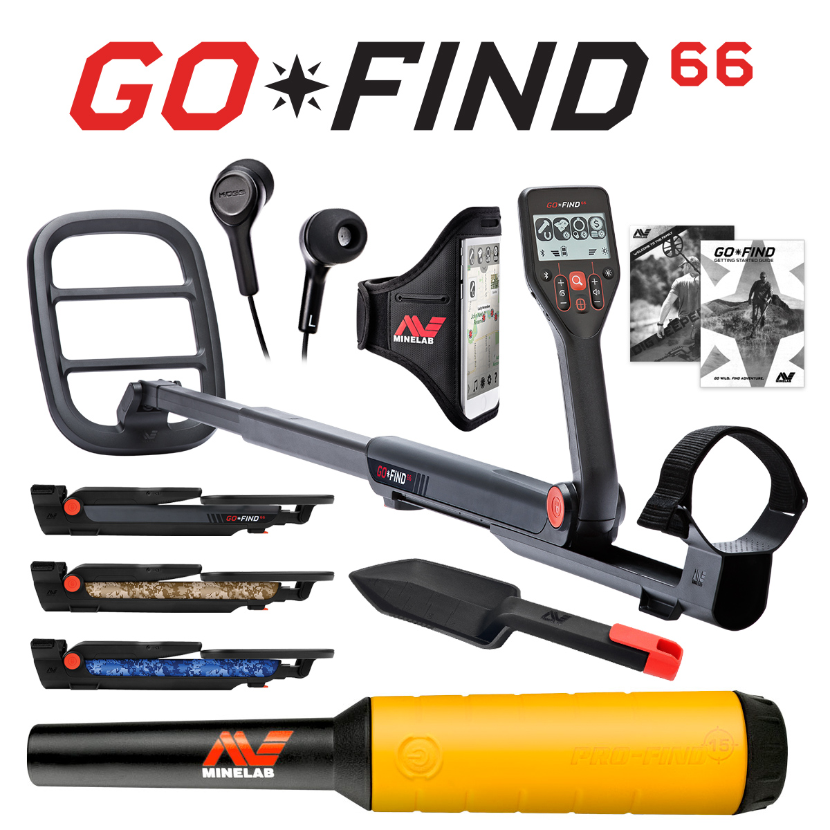 Minelab GO-FIND 66 Metal Detector with PRO-FIND 15 Pinpointer & Holster