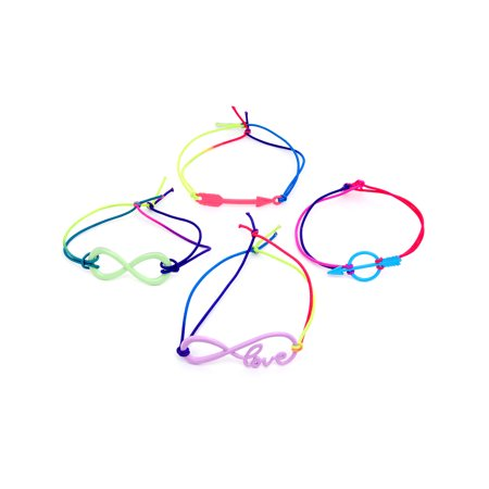Body Candy Handcrafted Nylon Colorful Love Stackable Fashion Bangles Multilayer Stretch Bracelets for Women