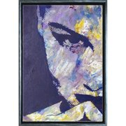 Startonight Silver Luxury Framed Canvas Wall Art Sexy Face of a Woman, Dual View Surprise Illuminated Abstract Artwork 5 Stars Gift 19.69 x 27.56 inch