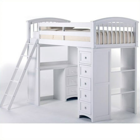 Fine Ne Kids School House Student Loft Bed In White Home Interior And Landscaping Ologienasavecom