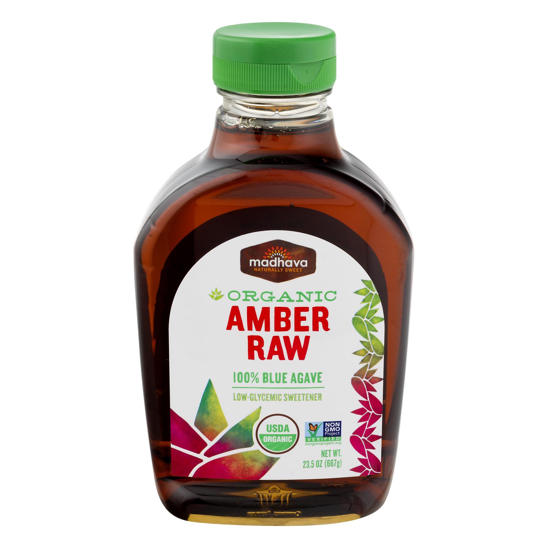 Madhava Organic Amber Raw 100% Blue Agave 23.5 oz.