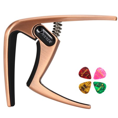 Donner Guitar Capo for Acoustic and Electric Guitar Ukulele Banjo Mandolin (DC-3 Silver/Copper/Black)