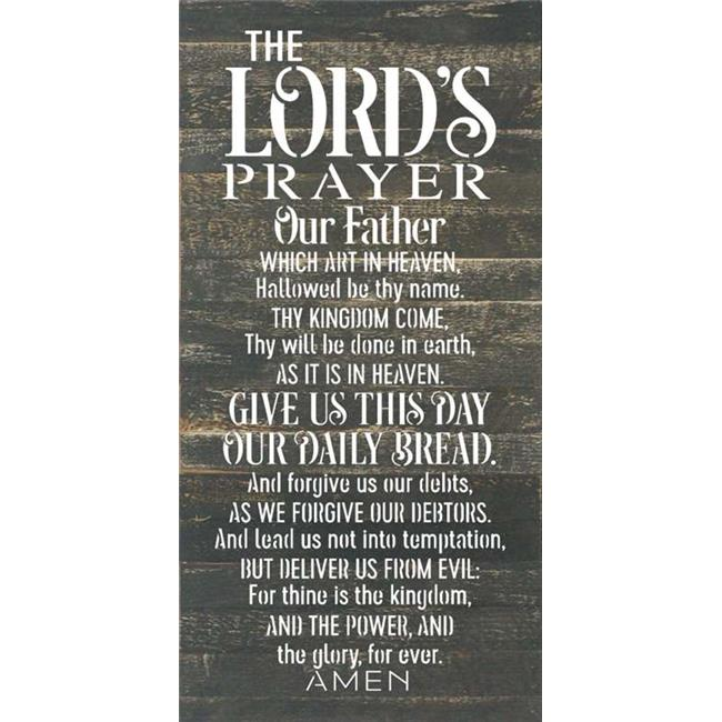 Artistic Reflections RE1147b 14 x 24.5 in. Lords Prayer Pallet Wood Art Sign