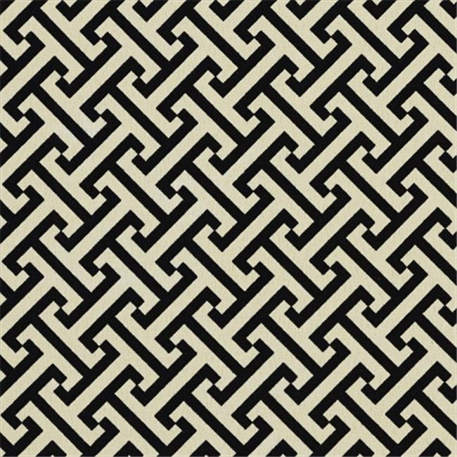 Designer Fabrics A206 54 in. Wide Outdoor Indoor Marine Upholstery Fabric, Black And Off White