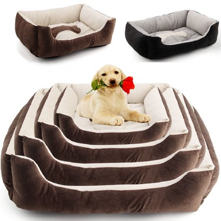 Pet Bed Basket (Asewin Large Luxury Washable Pet Dog Puppy Cat Bed Cushion Soft Mat Warm Basket Comfy)