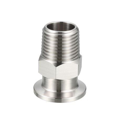 "Male Thread 1/2"" NPT Pipe Fitting to Tri Clamp OD 30mm Ferrule"