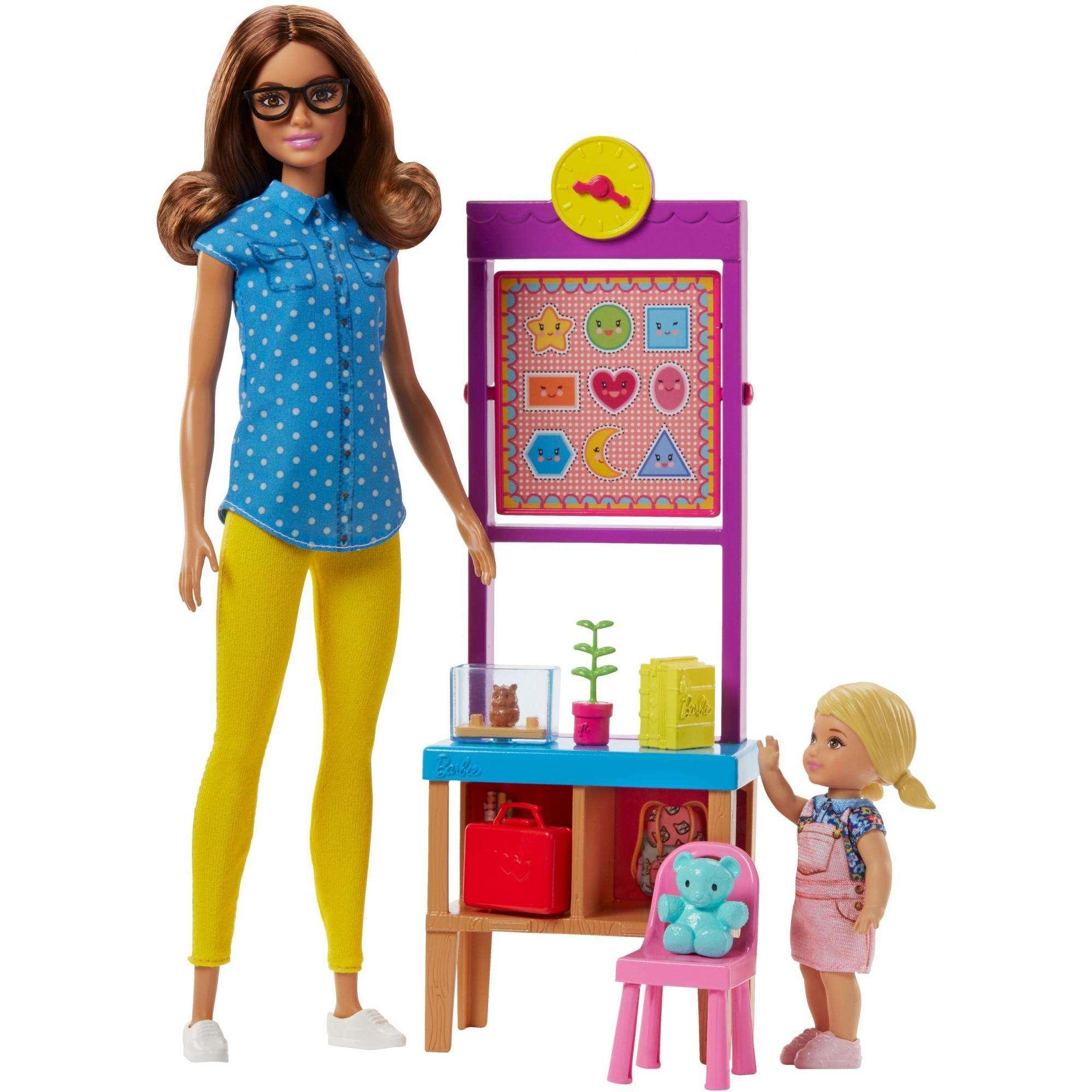 Barbie Career Teacher Playset with Teacher, Student & Accessories