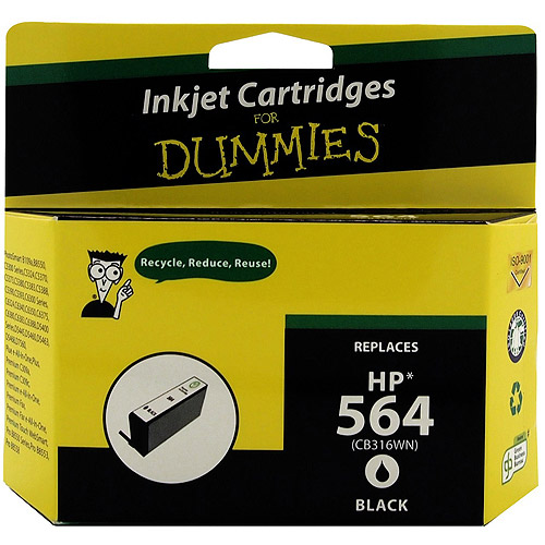 For Dummies - Remanufactured 564 Black Inkjet Cartridge (CB316WN)