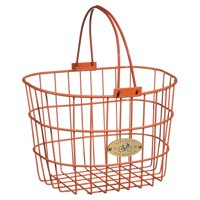 Nantucket Bicycle Basket Co. Surfside Adult Wire D-Shape Basket, Pink
