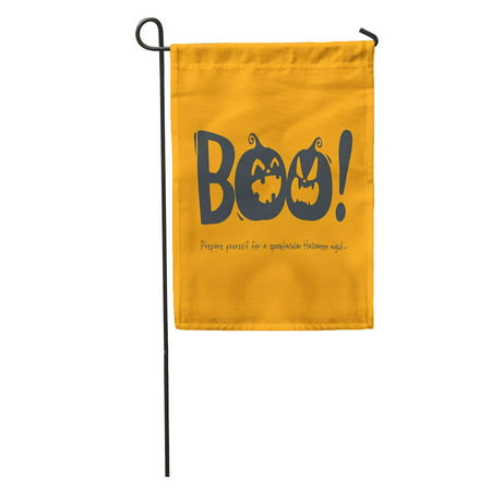 KDAGR Cartoon Halloween Message Boo Celebration Character Copy Space Cute Fun Garden Flag Decorative Flag House Banner 12x18 - Halloween Messages For Boyfriend