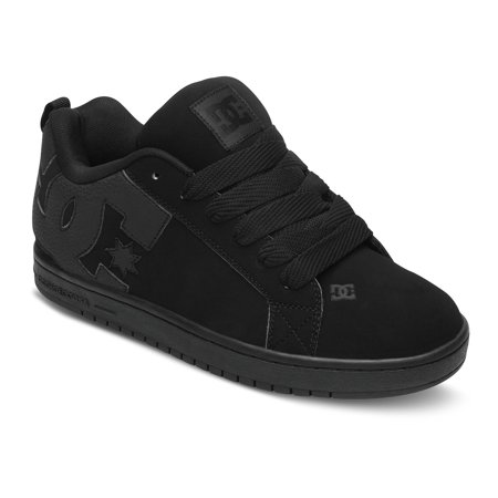 DC Men's Court Graffik Fashion Sneakers Black Leather 10