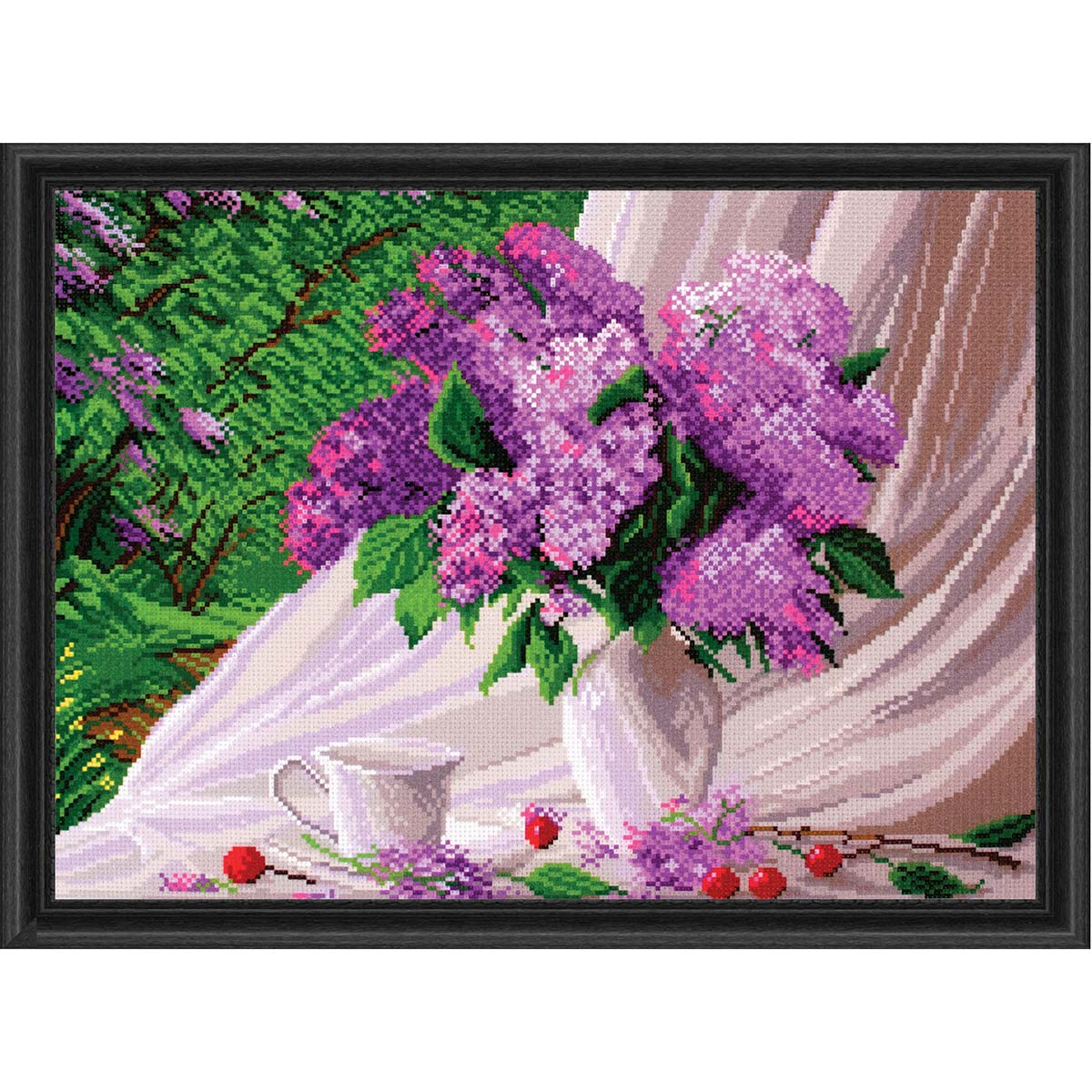 Collection D'Art Lilac Stamped Cross-Stitch Kit