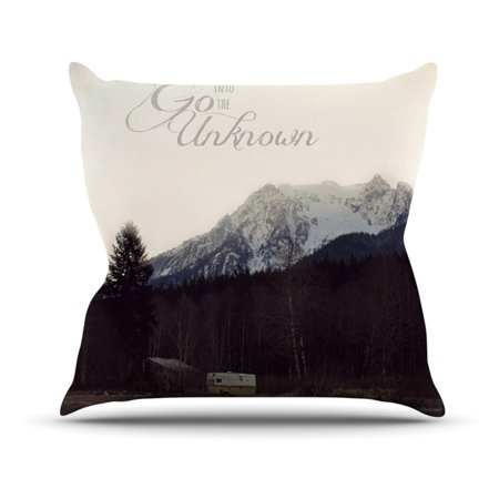 Kess InHouse Robin Dickinson Go Into the Unknown Indoor/Outdoor Throw Pillow
