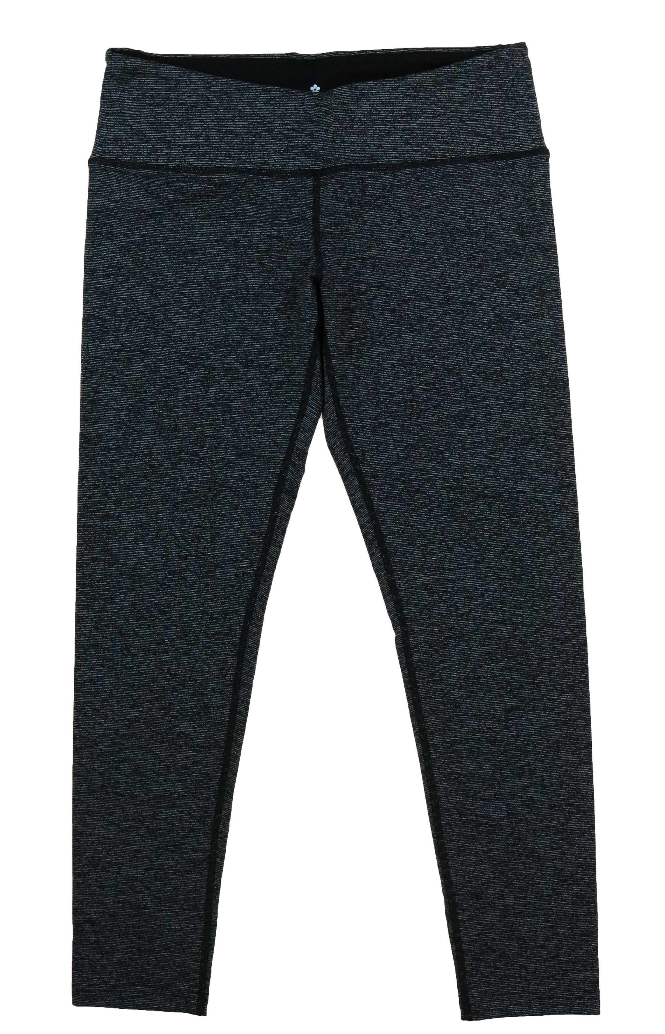 dff084f114bb5 Tuff Athletics - TUFF ATHLETICS Women's Yoga, Fitness Workout Legging Pants  (Black/White Noise, Large) - Walmart.com