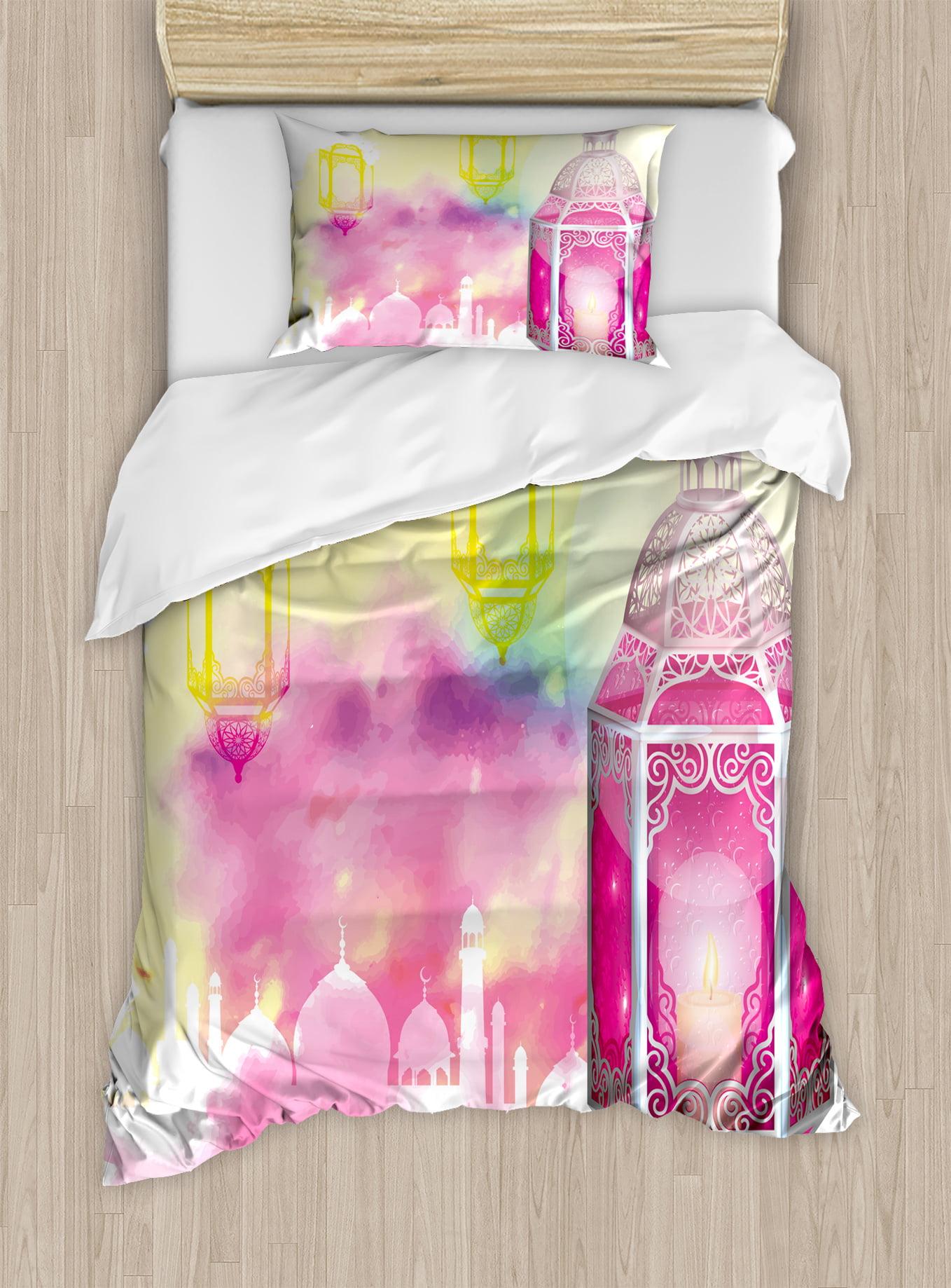 Lantern Twin Size Duvet Cover Set, Eid Mubarak Ramadan Kareem Prayer Islam... by Kozmos